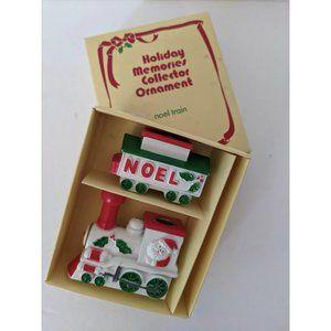 Vintage Holiday Memories Collector Noel Train